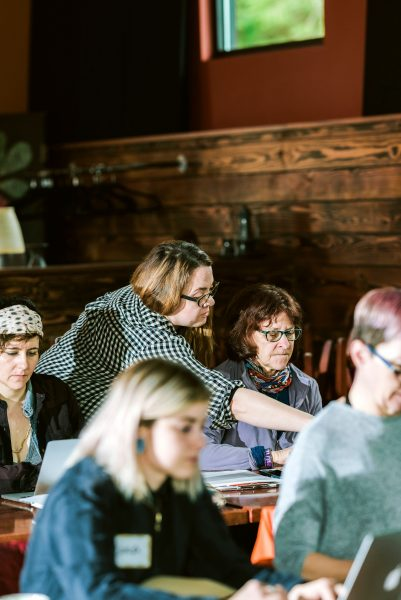 Emily Ellen Anderson teaches Sustainable Flower Business at Whidbey Flower Workshop 2019