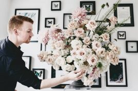 Joseph Massie teaches a floral design workshop with Susan Mcleary and Tobey Nelson