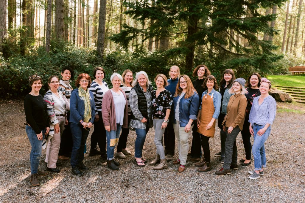 The whole gang from the Whidbey Flower Workshop 2019