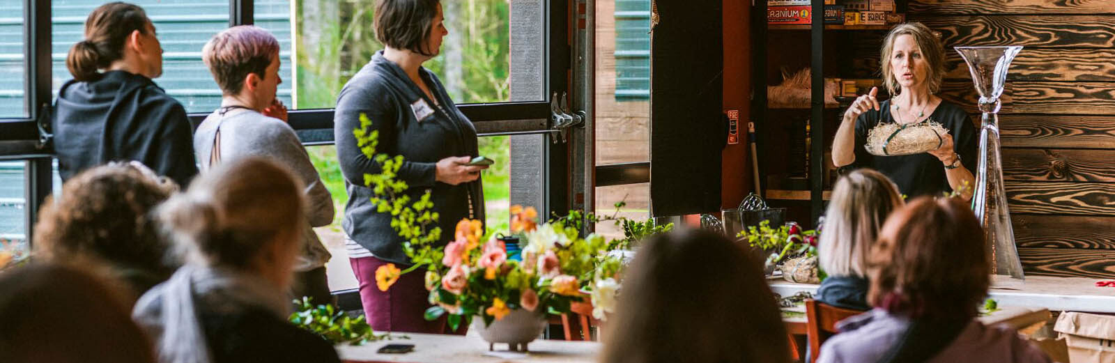 Tobey Nelson teaches Sustainable Floristry Design