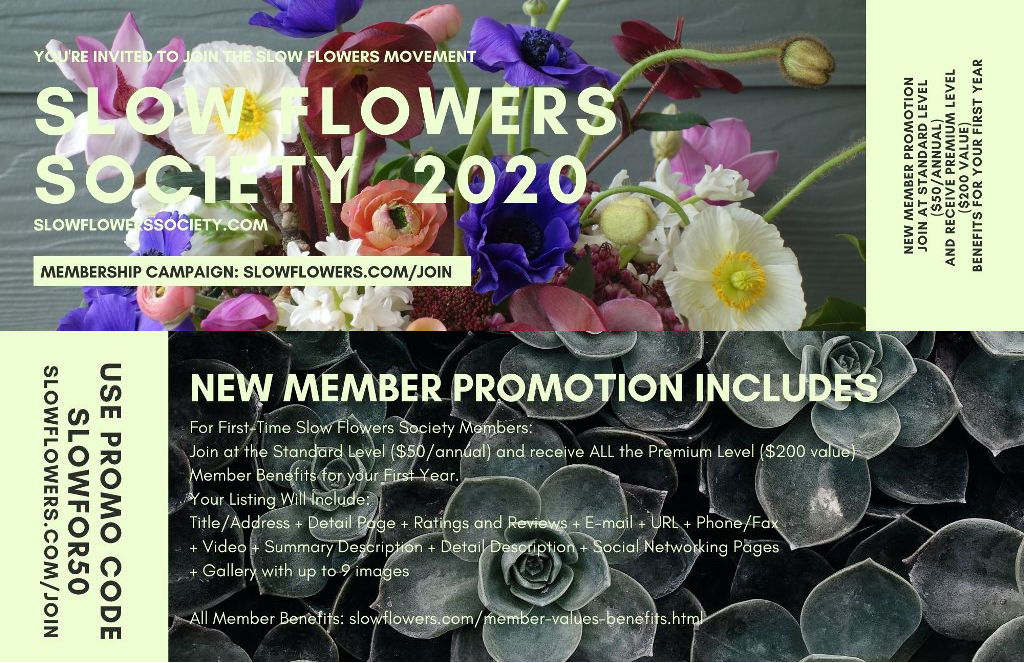 slow flowers membership discount
